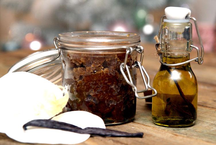 Sukkerskrubb med vanilje (til kroppen)