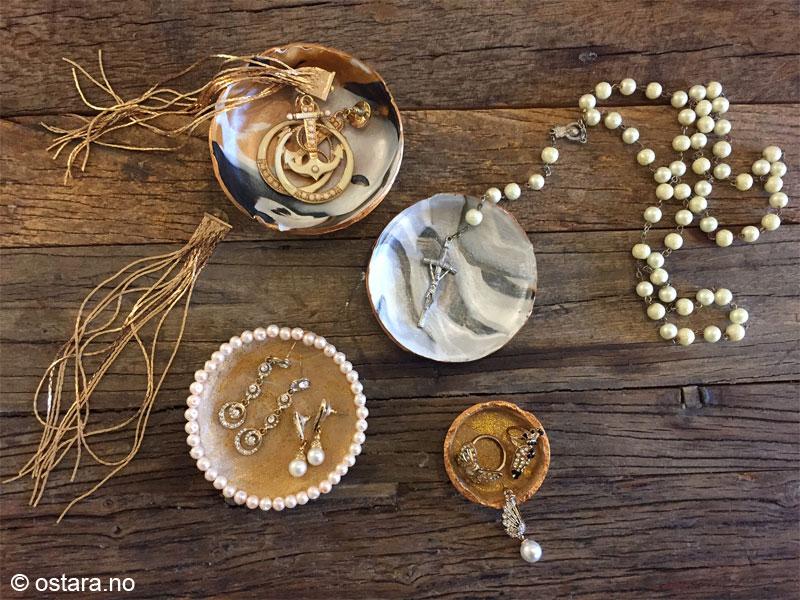 """DIY: Smykkeskåler i """"marmor"""