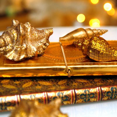 DIY: Skjell i gull og glitter